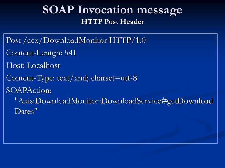 SOAP Invocation message