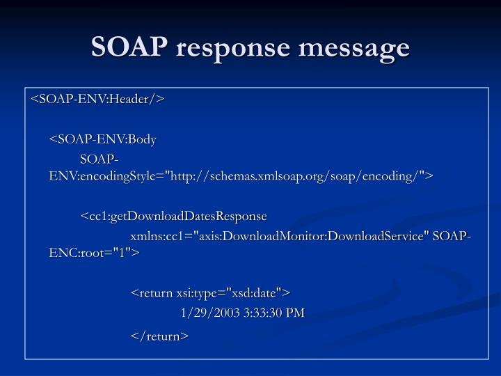 SOAP response message