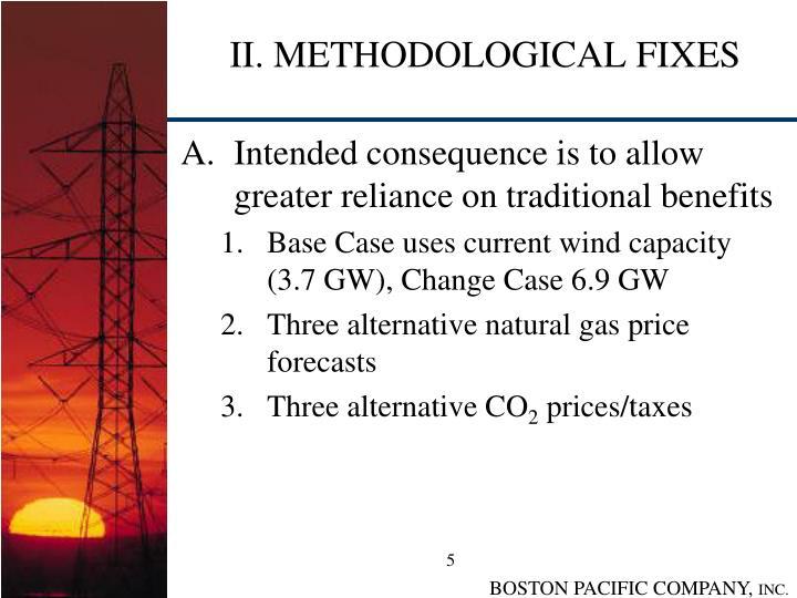 II. METHODOLOGICAL FIXES