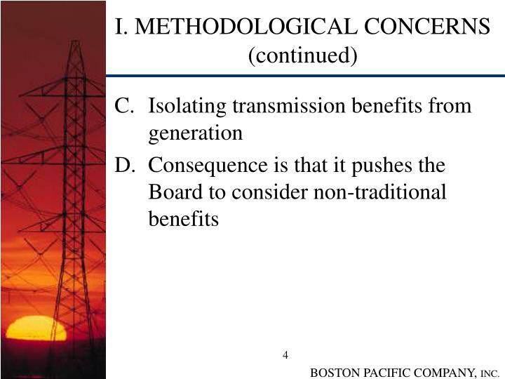 I. METHODOLOGICAL CONCERNS (continued)
