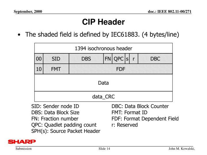 CIP Header