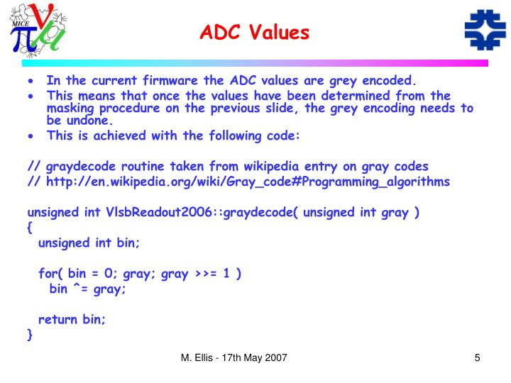 ADC Values