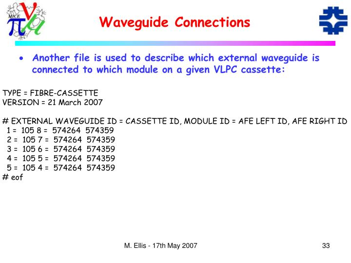 Waveguide Connections