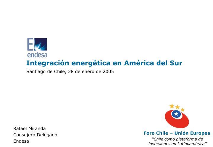 Integración energética en América del Sur