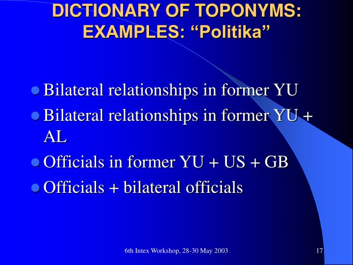Ppt Dictionary Of Toponyms In Serbian Powerpoint Presentation Id