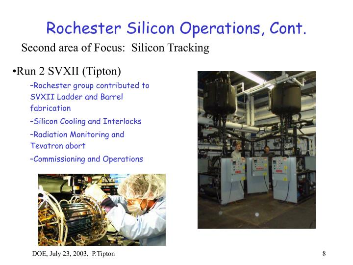 Rochester Silicon Operations, Cont.