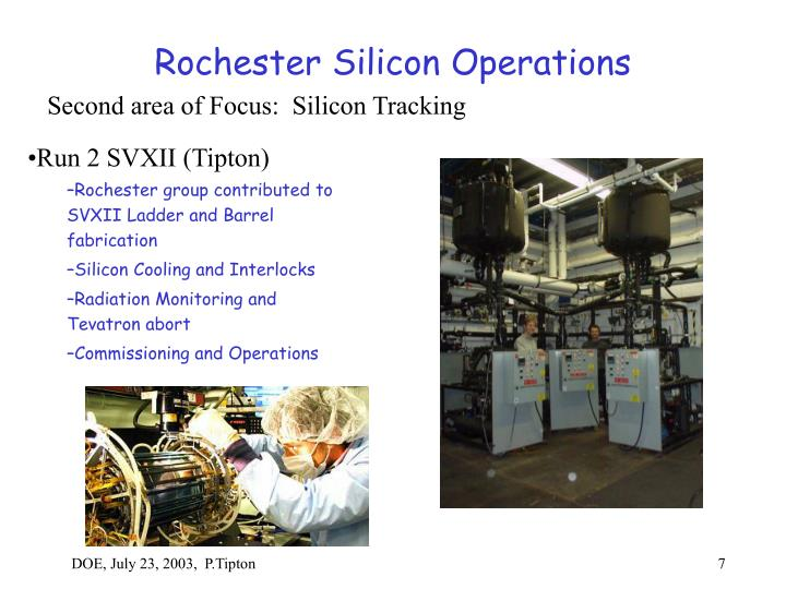 Rochester Silicon Operations