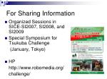 for sharing information