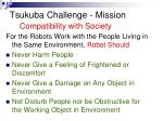 tsukuba challenge mission compatibility with society