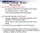 tsukuba challenge mission environment