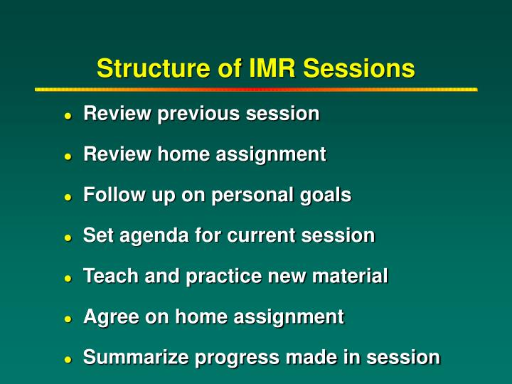 imr assignment f