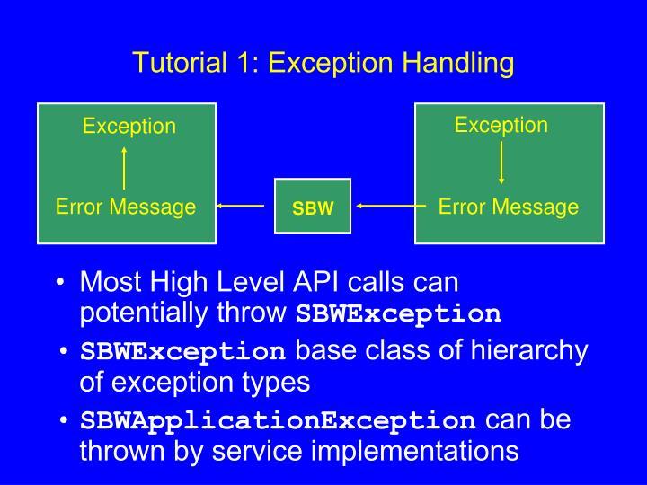 Tutorial 1: Exception Handling