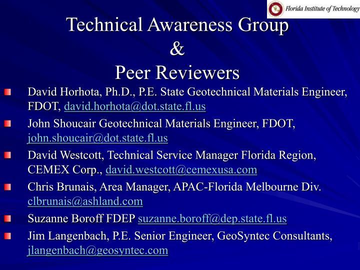 Technical Awareness Group