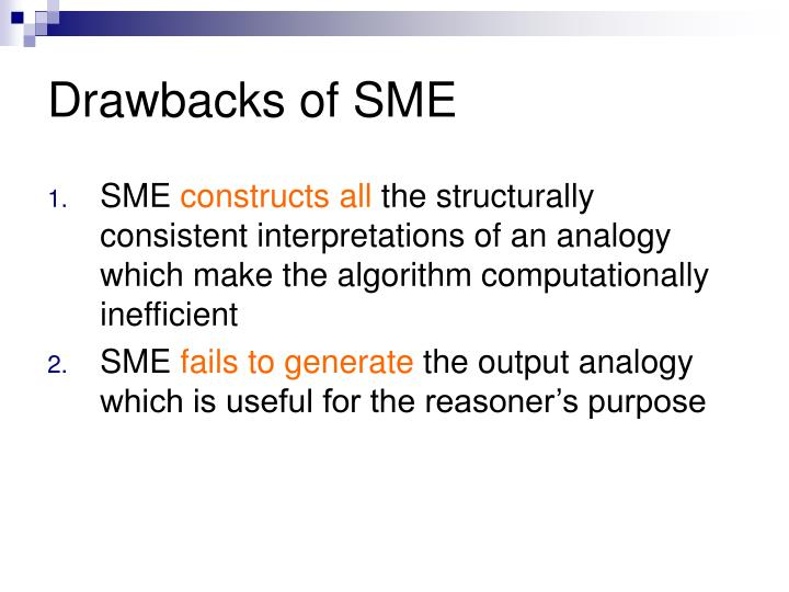 Drawbacks of SME