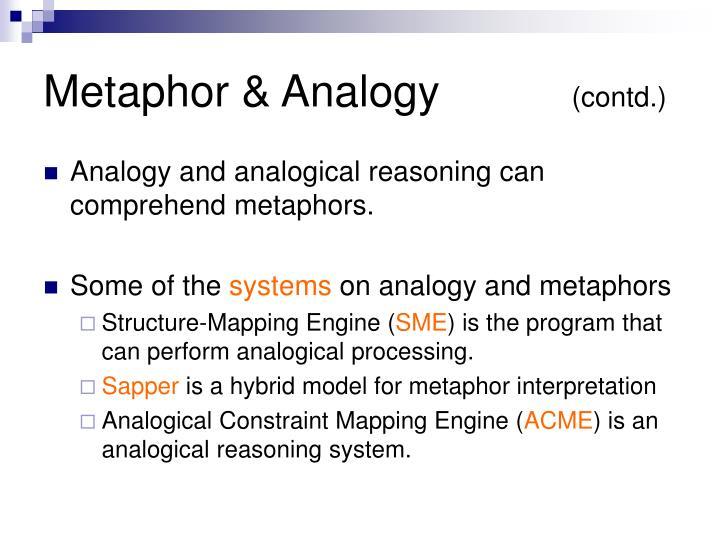Metaphor & Analogy