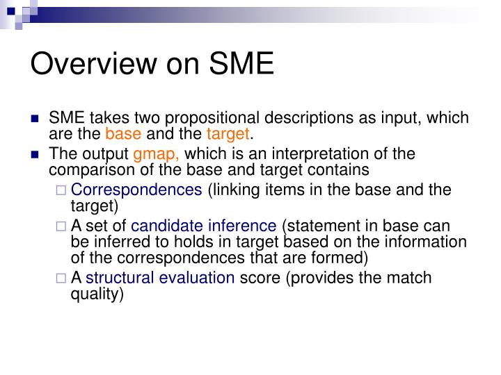 Overview on SME