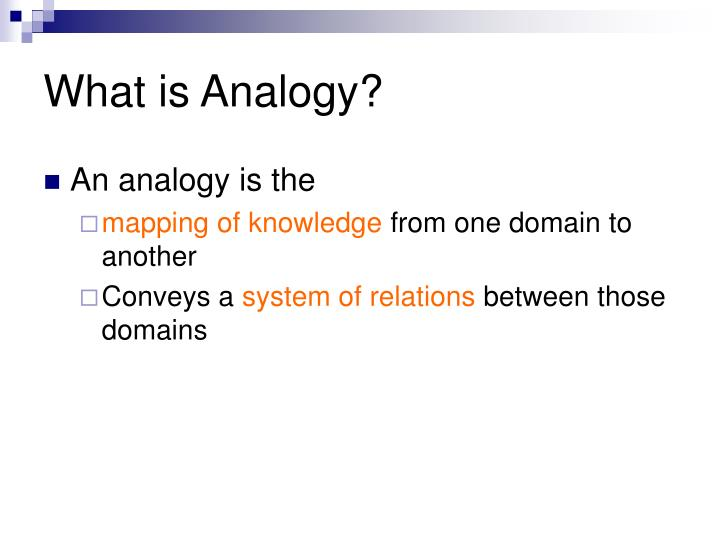What is Analogy?