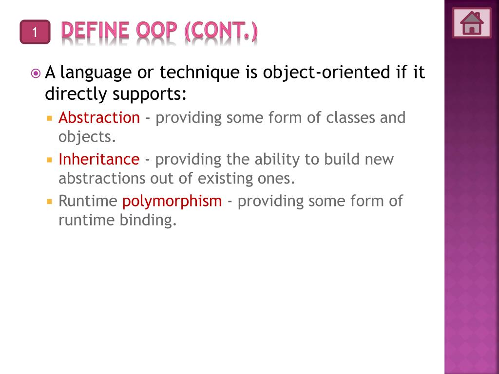 PPT - F3031 Object Oriented Programming PowerPoint Presentation - ID