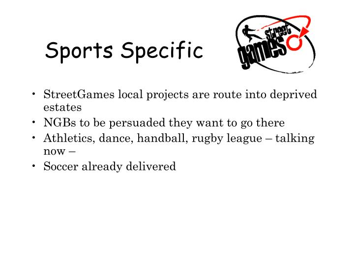Sports Specific