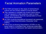 facial animation parameters