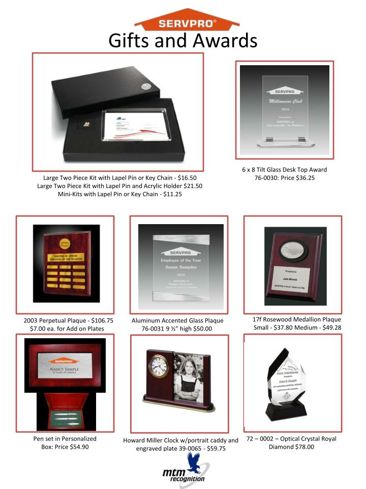 Gifts and Awards