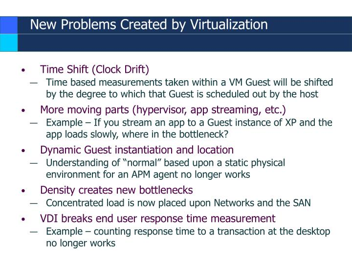 New Problems Created by Virtualization