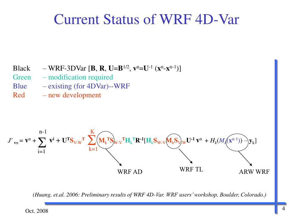 PPT - WRF 4D-Var System PowerPoint Presentation - ID:3658164