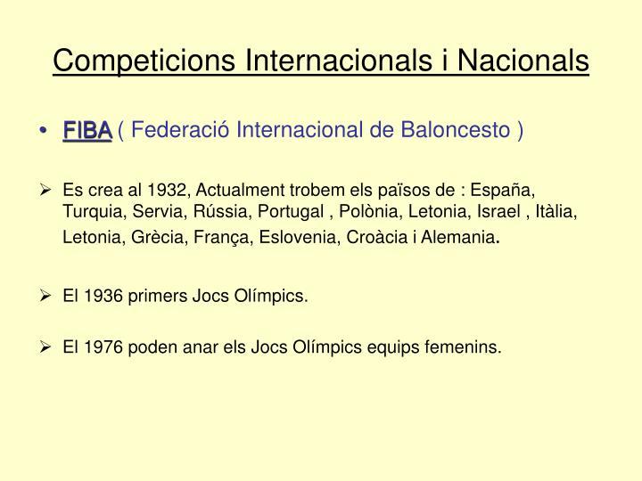 Competicions Internacionals i Nacionals