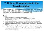 7 role of cooperatives in the transformation