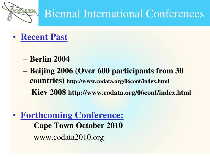 Biennal International Conferences