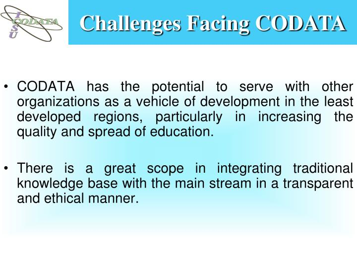 Challenges Facing CODATA