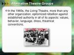 alternative theatre groups