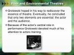 poor and environmental theatres1