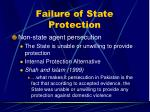 failure of state protection