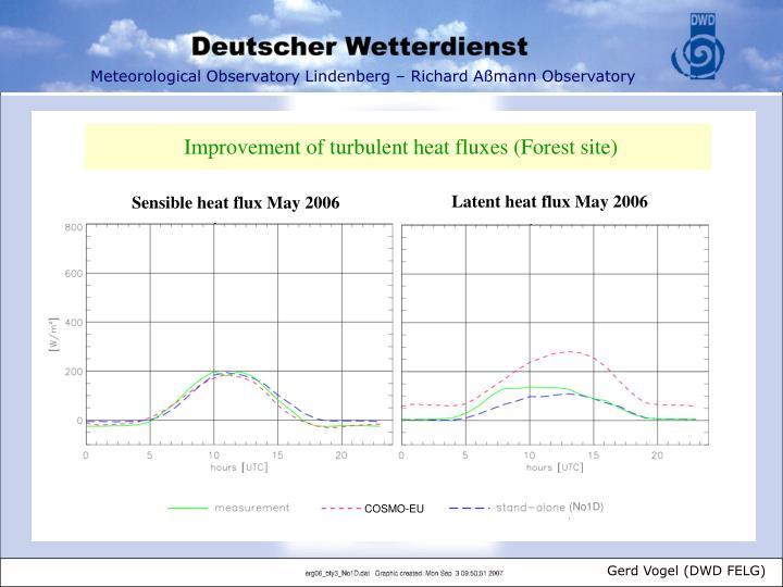 Improvement of turbulent heat fluxes (Forest site)