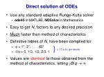 direct solution of odes1
