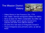 the mission district history