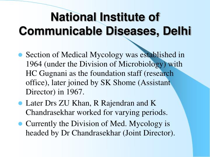 National Institute of Communicable Diseases, Delhi