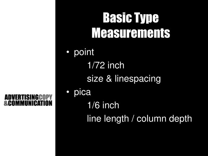 Basic Type Measurements