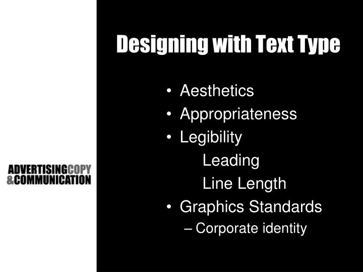 Designing with Text Type