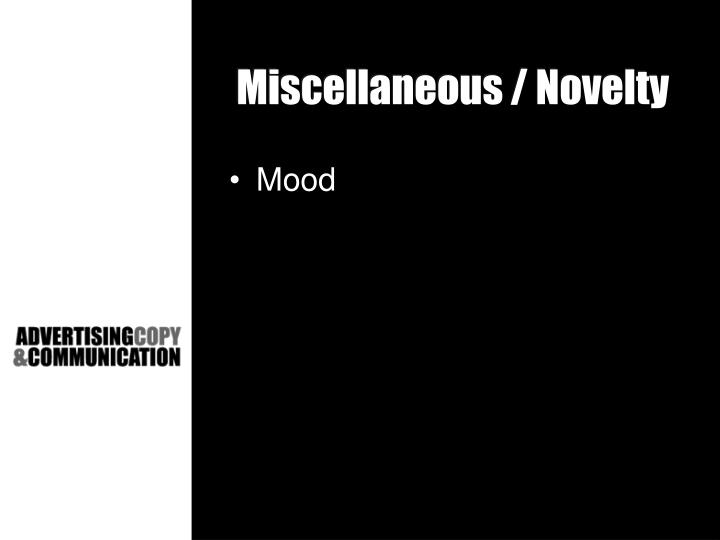 Miscellaneous / Novelty