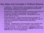key ideas and concepts in political science