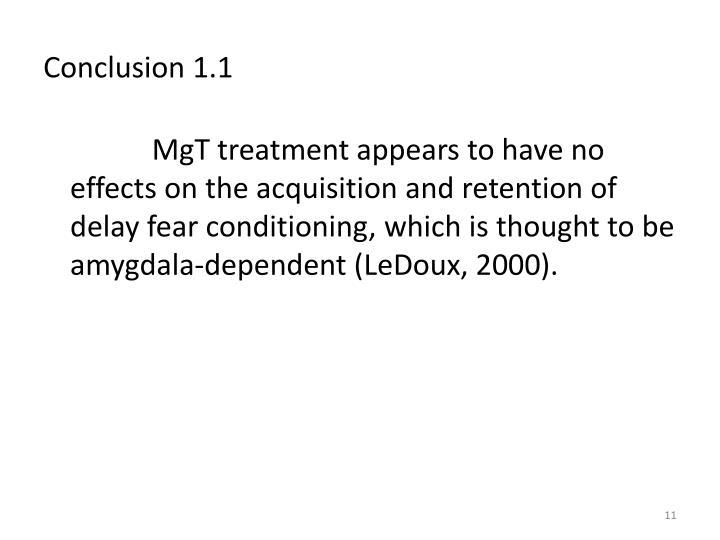 Conclusion 1.1