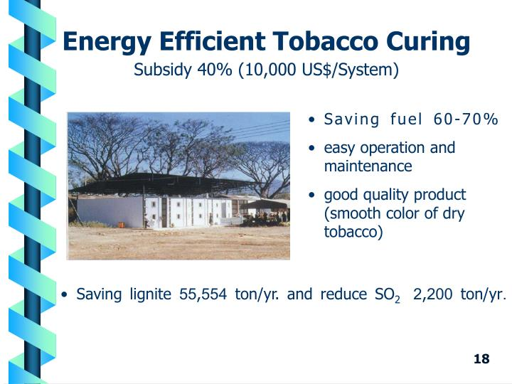 Energy Efficient Tobacco Curing