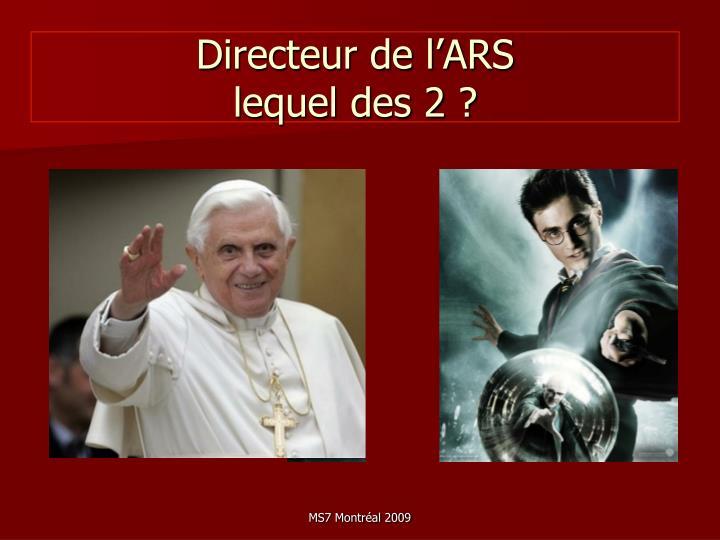 Directeur de l'ARS