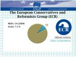 the european conservatives and reformists group ecr