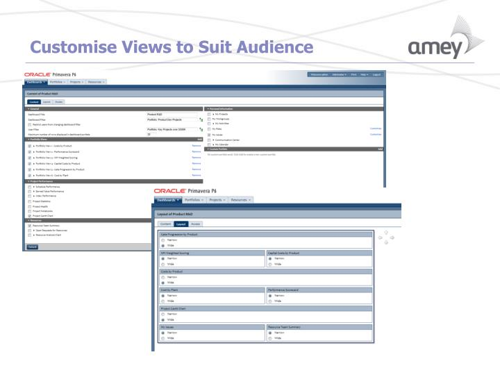 Customise Views to Suit Audience