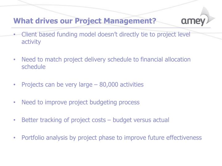 What drives our Project Management?