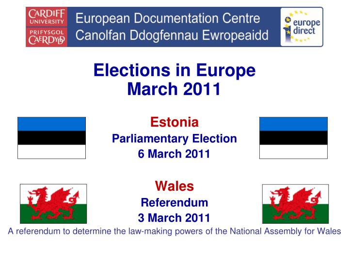Elections in Europe
