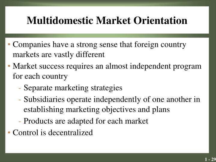 analyse market orientation on a company Business strategies for sustainable development market share or should it cultural orientation and extensive refinements to systems.